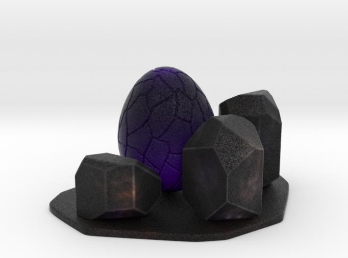 Purple dragon egg scene 1 3d printed