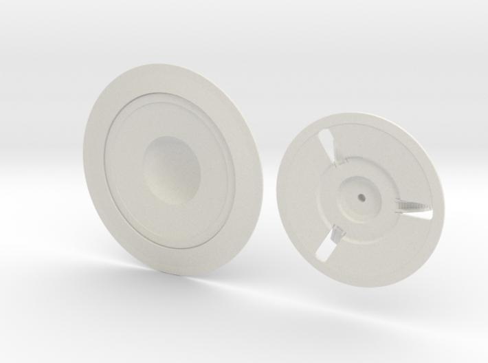 C-57D, 100 mm diameter (2 pieces) 3d printed