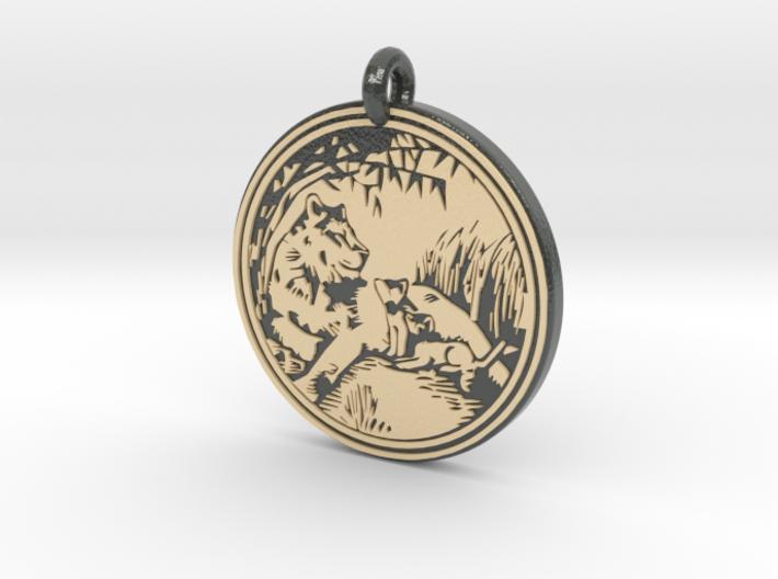 Lioness Animal Totem Pendant 3d printed