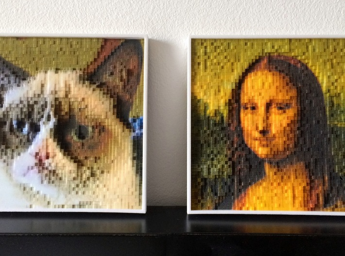 PhotoPixels | Turn photos into 3D pixel sculptures 3d printed