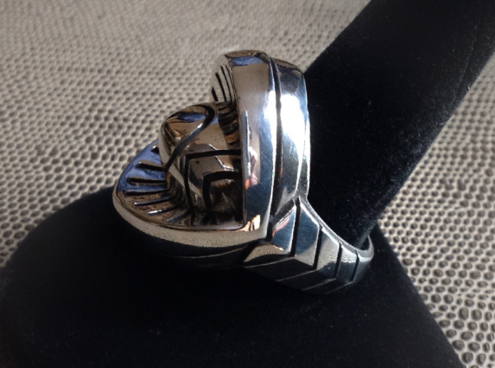 Ring of India - Size 11 1/2 (20.98 mm) 3d printed Polished Silver