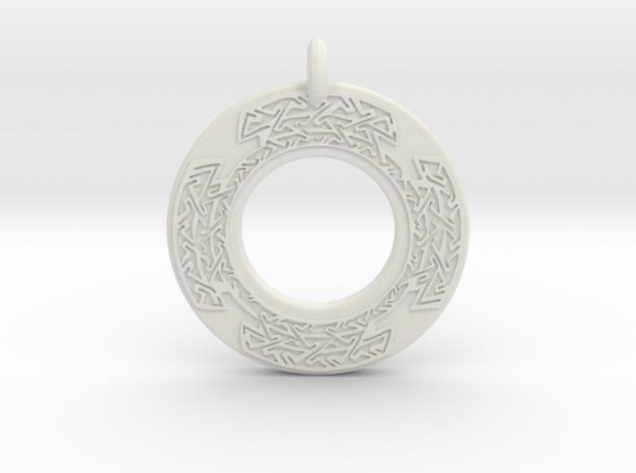 Celtic Cross Annulus Donut Pendant 3d printed