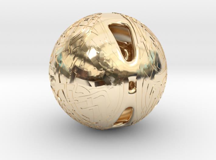 Celtic Knotwork Mythical Sphere 3d printed