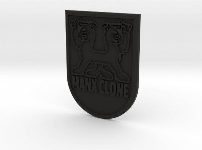 """MANX CLONE"" front badge 3d printed"