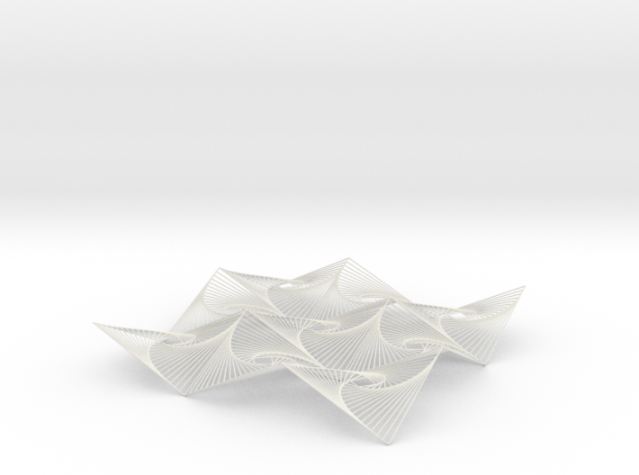 Square Spiral Line Illusion V3 Tessellated Lines 3d printed