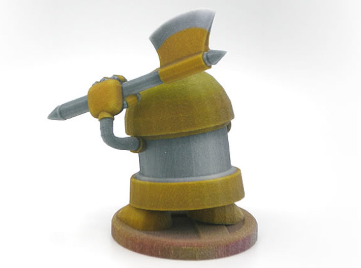 Axe Robot Yellow 3d printed Please note that I have brightened the textures since buying this one.