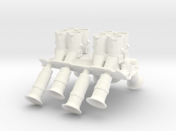 Brodix BBC 1/8 Crower injection intake 2 3d printed