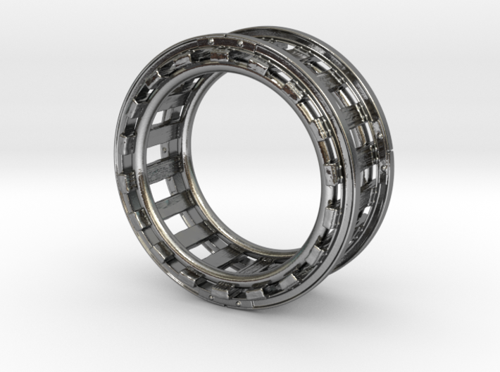 Railroad Ring - Size 9 1/2 (19.35 mm) 3d printed