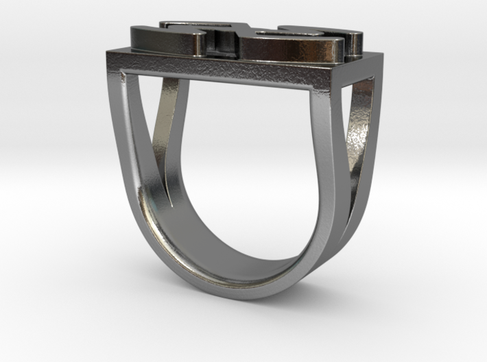 Cattle Brand Ring 3 - Size 9 1/2 (19.35 mm) 3d printed