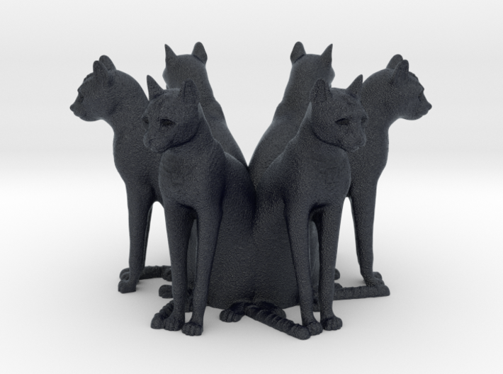 Cat Array (x6) 3d printed