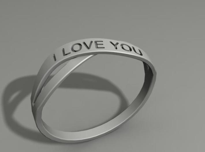 I Love You ring US13 3d printed