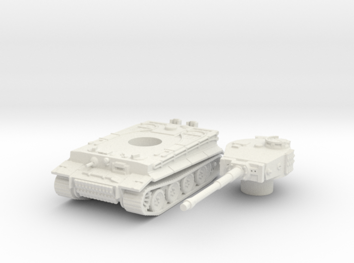 Tiger I (mid) scale 1/87 3d printed