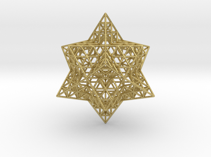 """Stellated Vector Equilibrium w/Triforce Faces 2.2"""" 3d printed"""