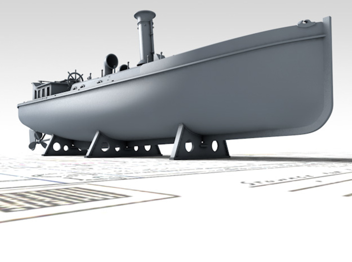 1/144 Royal Navy 50ft Steam Pinnace x1 3d printed 3D render showing product detail