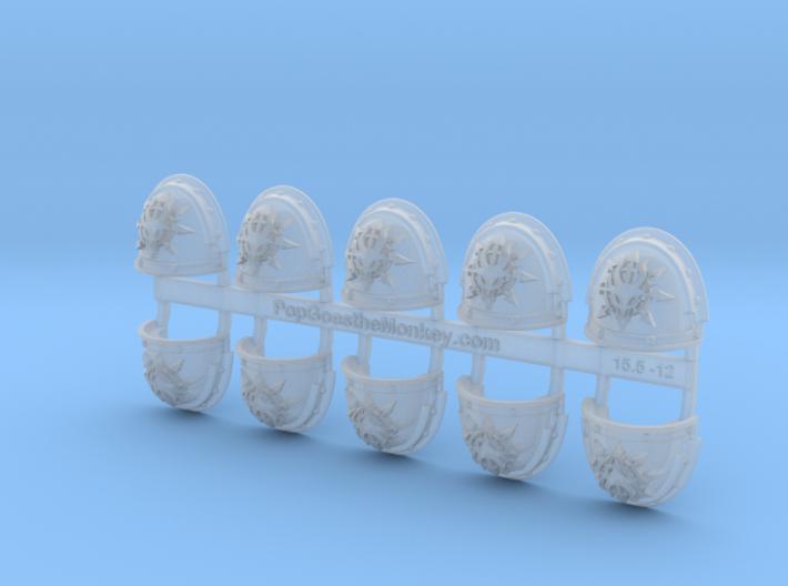 10x Devil Dragons - G3 Shoulder Pads 3d printed