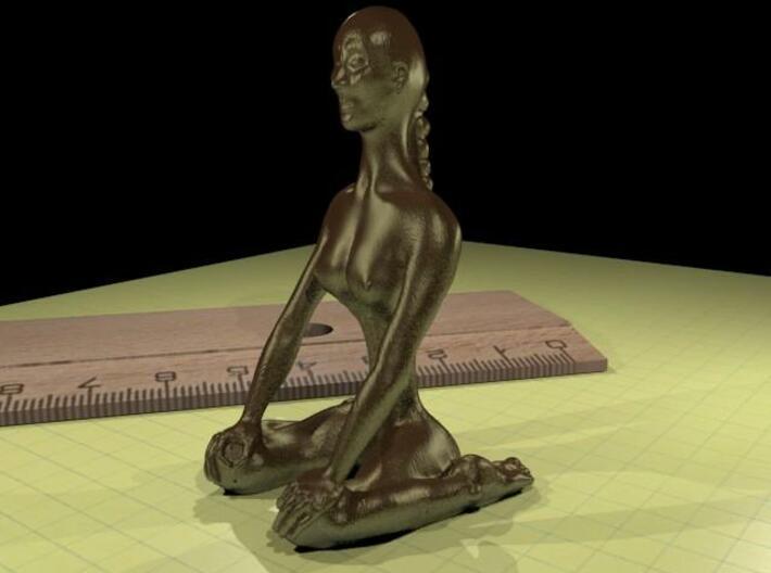 Virasana S 3d printed bronze rendering