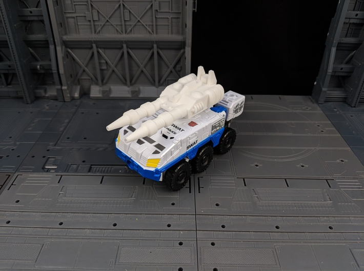 TF Combiner Wars Streetwise Car Cannon 3d printed Mounted onto Rook