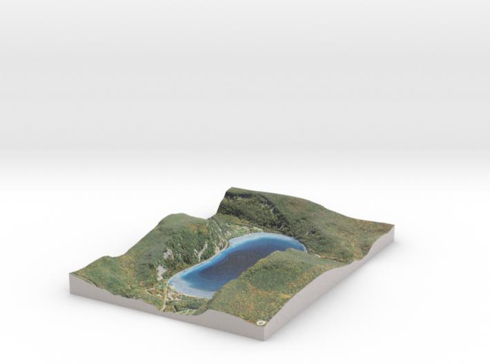 Devil's Lake Map - Bathymetry (1:9K) 3d printed