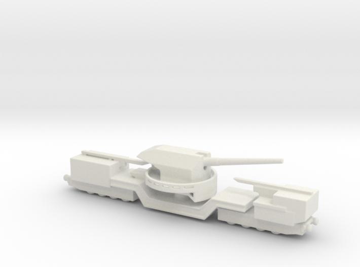 soviet railway artillery TM-1-180 1/285 3d printed