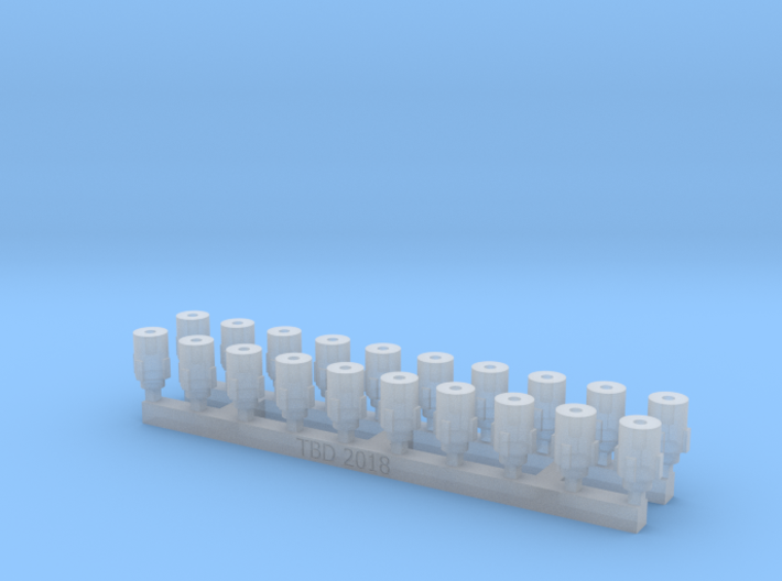 Bolt Rifle Suppressors Stubby v1 x20 3d printed