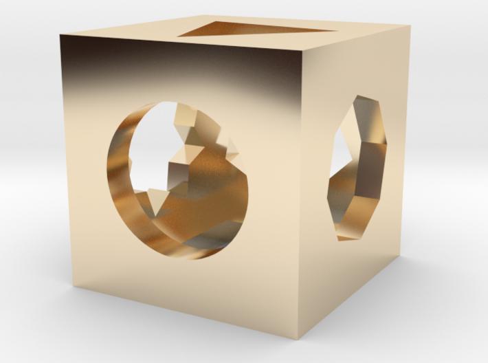 Multi figures cube 3d printed