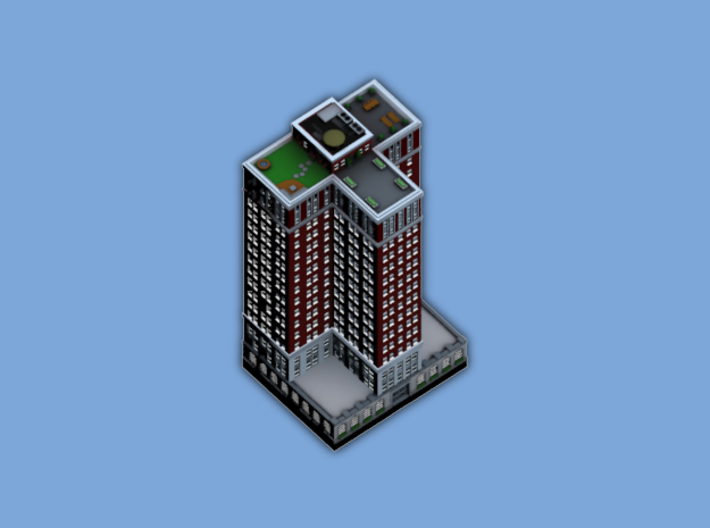 Chicago Set 1 Residential Tower 3 x 2 3d printed