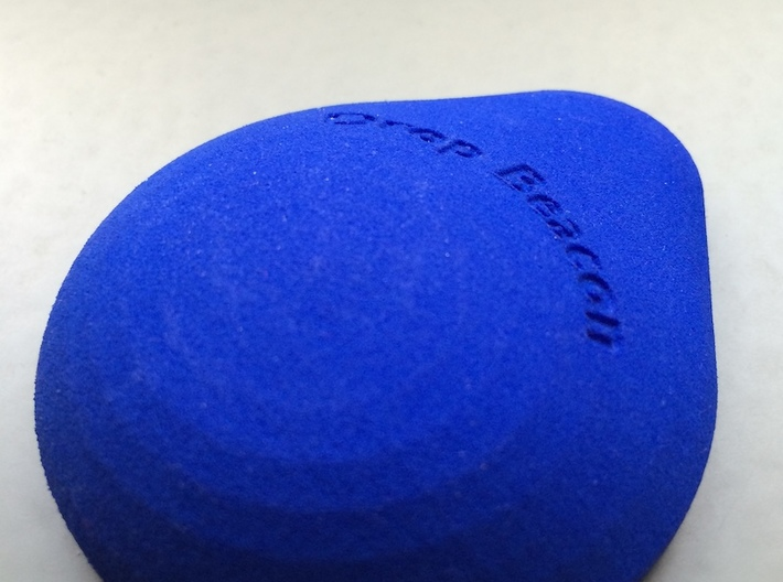 DropBeacon-Top-With-Snap-Mechanism-20140221 3d printed The Top enclosure printed in Royal Blue