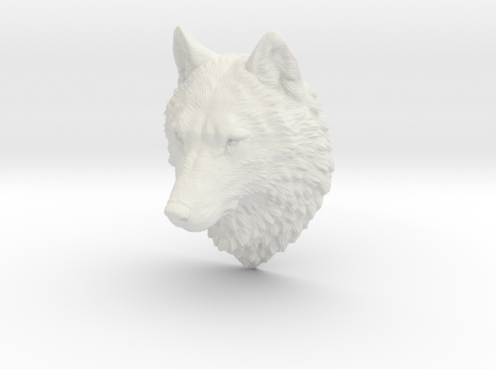 Proud Wolf Wall Mount 3d printed
