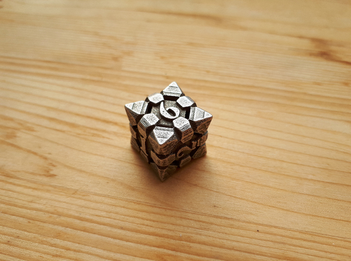 Fortress Dice Set with Decader  3d printed Fortress Dice D6