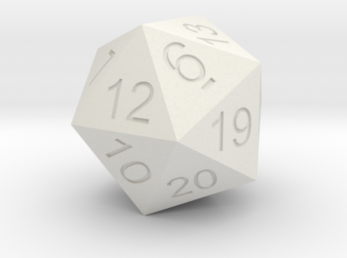 Giant 20 sided Dice Icosahedron 3d printed