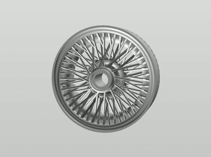 British style wire wheel 3d printed Fusion 360 rendering