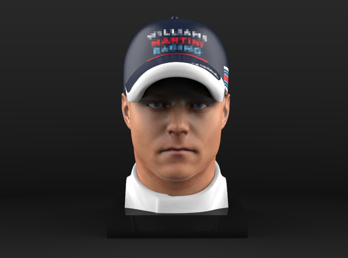 Valtteri 1/8 Head Figure 3d printed