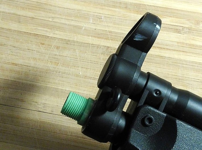 14mmx1 Negative Muzzle Thread Interface 3d printed