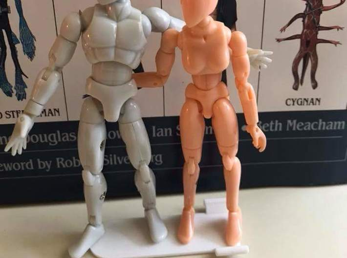Microman Trick Stand 3mm 2-pack 3d printed