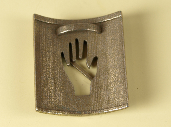 Don't Touch My Hair : No Touching! Hair Tie 3d printed Stainless Steel