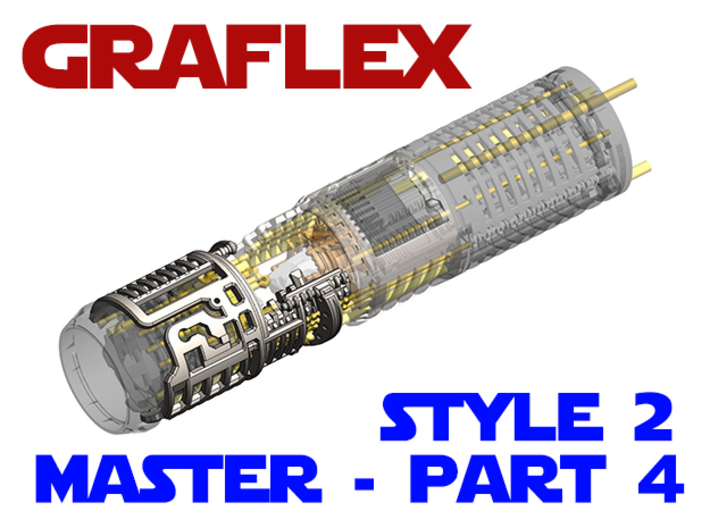 Graflex Master - Part4 Style2 - Shell2 3d printed