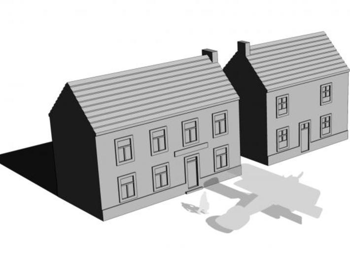 1/350 Village Houses 8 3d printed