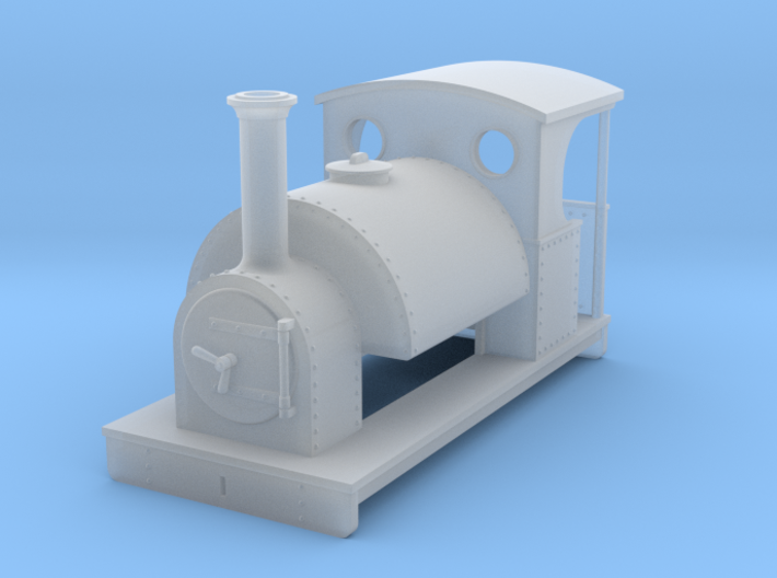 OO freelance 0-4-0T saddletank loco with open back 3d printed