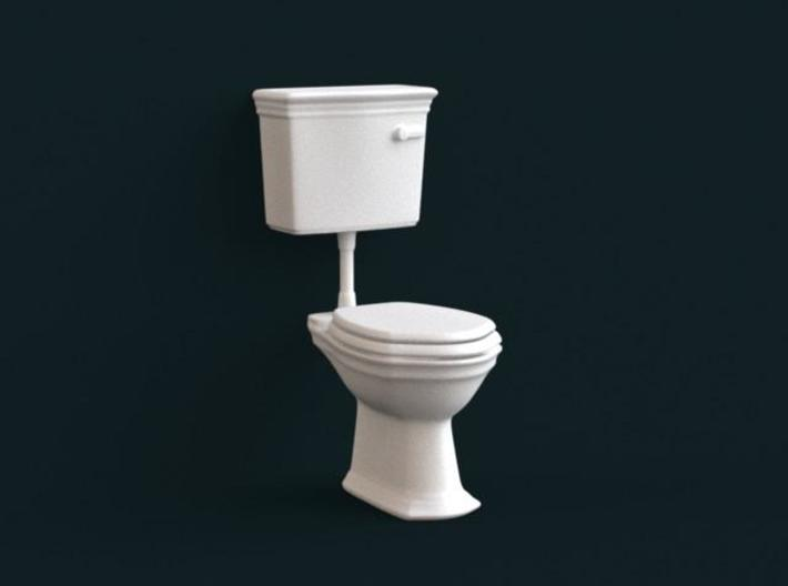 1:39 Scale Model - Flush Toilet 01 3d printed