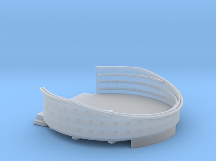 1/96 USN 40mm Quad Gun Tub Aft Superstructure port 3d printed