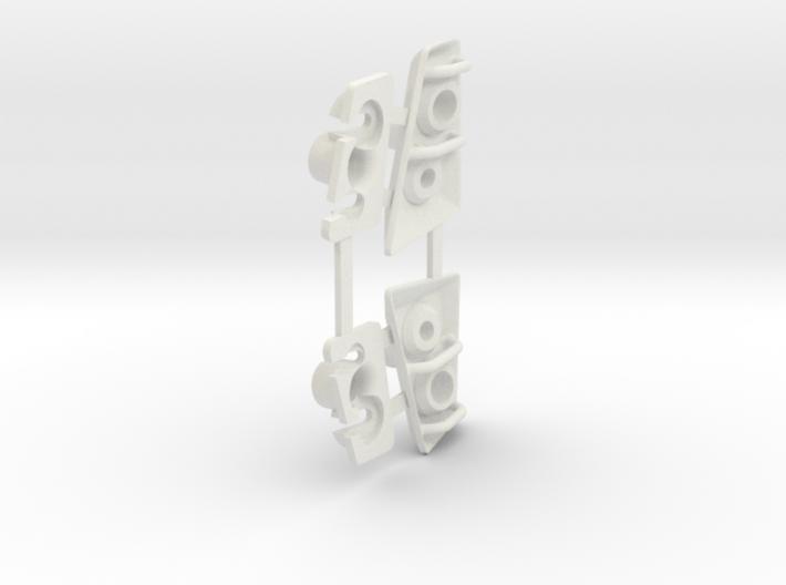Tactical Unit Headlight Buckets 3d printed