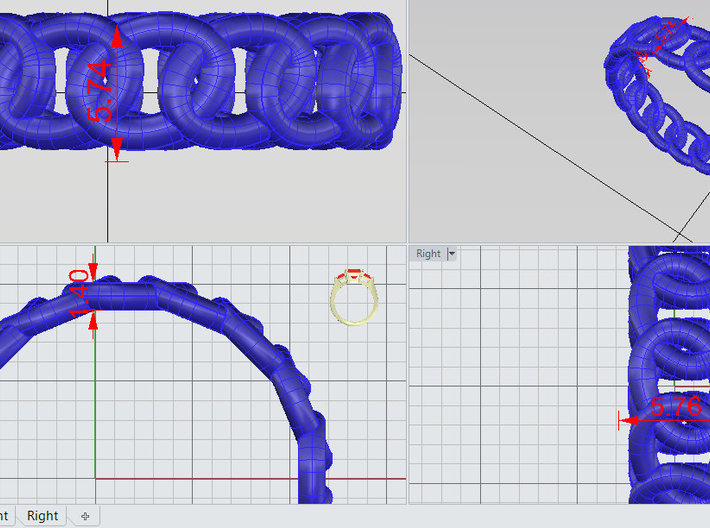 GBW14 Lds Band 3d printed