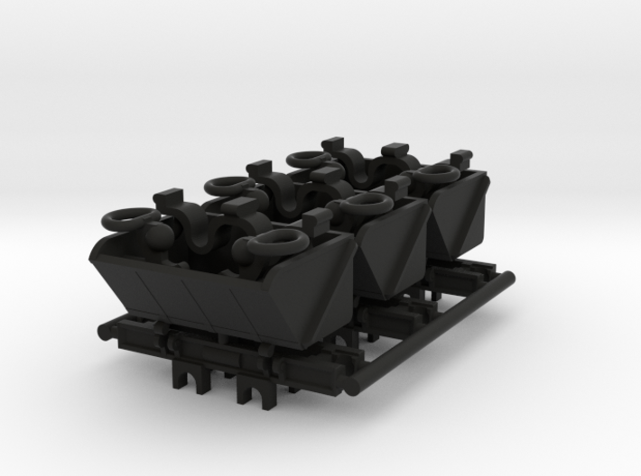 009 Ore Wagons X 3 3d printed