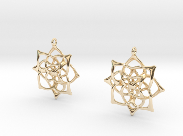 Flowery Earrings 3d printed