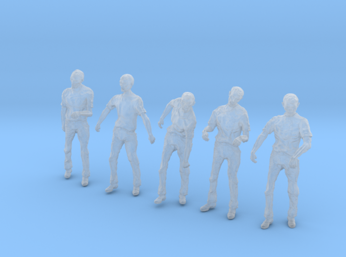 1/56 male zombie set001-02 3d printed