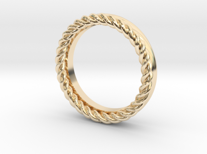 Rope stackable ring 3d printed
