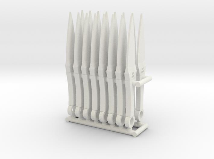 1/6 scale modern kunai style throwing knife x16 3d printed