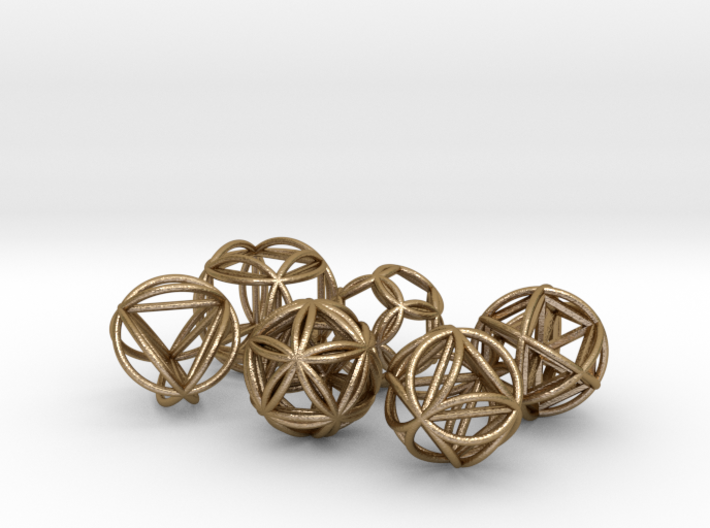 Metatronic Spheres w/ Nested Metatronic Solids 3d printed