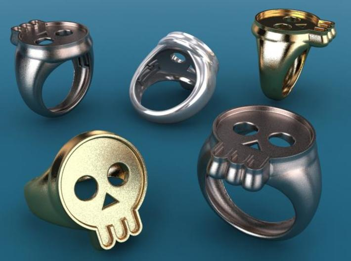 Skull IV ring 3d printed