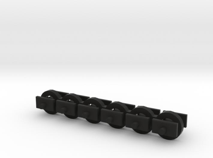 N Scale 4mm Fixed Coupling Drawbar x6 3d printed
